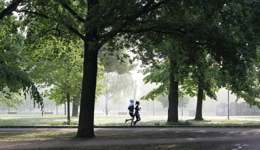 Jogger in einem Park